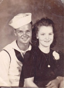 Aldon and Dorothy George were married June 12, 1944.