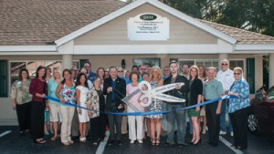Lorianne De Loreto of Visions of Hope International hosted a combined Greater Riverview and SouthShore chambers of commerce ribbon cutting May 21 when she opened her office at 10018 Park Ave., Riverview, in the Park Place Plaza on Gibsonton Drive between I-75 and U.S. 301.  Huth & Booth Photo