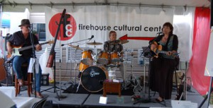"""Victoria Hawkes,"" featuring Victoria Ginty and Mike Ivey, were the live entertainment during the Firehouse Cultural Center's Blues and Barbecue fundraising event last Saturday in Ruskin. The  evening concluded with blues artist George Worthmore performing in the Firehouse Pub."