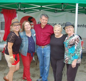 The barbecue committee, from left: Charlotte Clark, FCC executive director Georgia Vahue, Joe Hervey, FCC facilities coordinator Frances Hereford, and Deb Adams. Chere Simmons photo