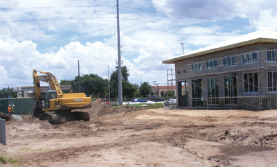 The Big Bend Road and U.S. 301 intersection will have yet another choice of food by the end of summer as a PDQ traditional American sandwich restaurant is being built at 10441 Big Bend Road. The tentative target date for opening is Aug. 17. Penny Fletcher photo