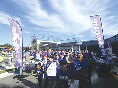 The 2013 Walk to End Alzheimer's in Sun City Center. Nearly 350 people from the Sun City Center area are expected at the 2014 Walk to End Alzheimer's event on Oct. 18 to raise awareness and funds to fight Alzheimer's disease.