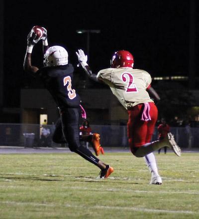 Senior Diontae Johnson (3) catches a pass from quarterback Devin Black. Jacob Council photos.