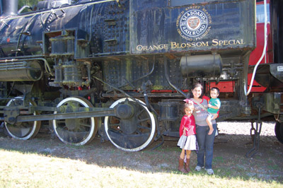 New York to Florida (Miami) rail service on the Orange Blossom Special began in 1925. Its owner was hoping to lure influential and wealthy people to a Florida he deemed ripe for development. This locomotive now rests at the Parrish museum for all to enjoy.