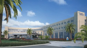 Rendering of St. Joseph Hospital South.