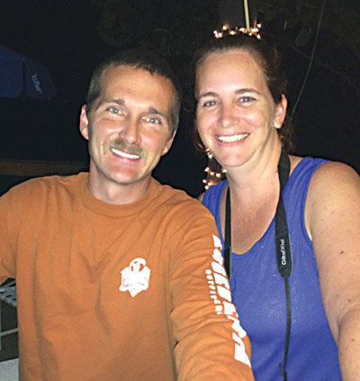 Jeff and Stacy Anderson spin tunes at karaoke shows by night, but they're wildlife chasers by day, removing nuisance wildlife, primarily feral hogs, in the local area.