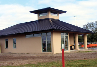 The new Sun City Center Information Center will be the first building visitors see as they turn onto North Pebble Beach Boulevard toward the main community complex. The building will not just be to help visitors find their way around but will also help existing residents find activities and other things for which they may request help. Penny Fletcher photos.