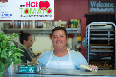 Tina Detty of the Hot Tomato in Ruskin. The new establishment has received a very warm welcome from many in the area.