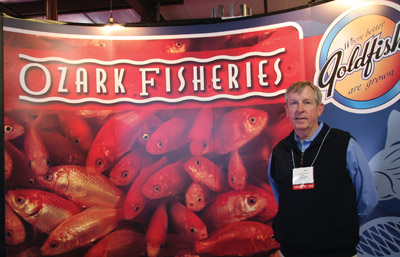Larry Cleveland, of Ozark Fisheries in Stoutland, MO., raises healthy goldfish, koi and fantails for attractions that feature fishing games and live pet prizes for kids. www.ozarkfisheries.com