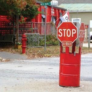 Traffic-control device in Rutledge, Ga.