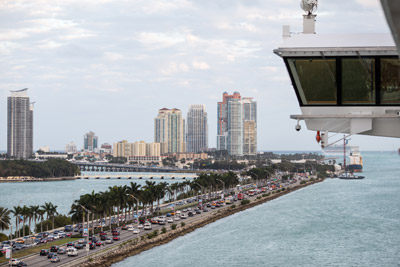 Traffic backs up into Miami Beach as millions of people flock to Florida to escape winter. There is no better way to beat the traffic than aboard a cruise ship, such as the 1,068-foot Norwegian Getaway.