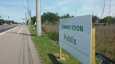 Publix will be the anchor store at the new Rivercrest Commons shopping center at U.S. 301 and Symmes Road in Riverview. Kevin Brady photo.