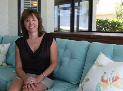 Ginty at her home in Apollo Beach.