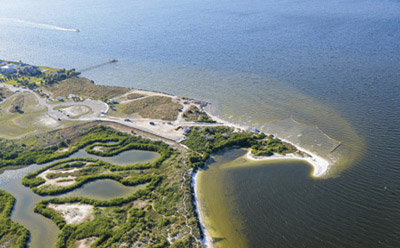 Aerial view of the site of the Apollo Beach restoration project.
