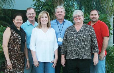 The ABWIG Board of Directors, front row, from left: Aixa Moore, Earlene Reid, Pat Austin. Back row: Steve Latchford, Len Berkstresser, Steven Alvarez. Not pictured: Melissa Nicholson.