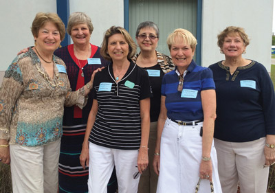 AAUW/SCC members, from left: Diane Waronka, Linda Eargle, Kathy Vore, Sandy Dillmuth, Sandy Zeligman and Lois Toeppe.