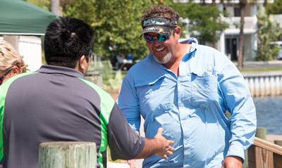 Captain Joel Brandenburg of Ana Banana Fishing Company at Little Harbor Resort. Mitch Traphagen photos.