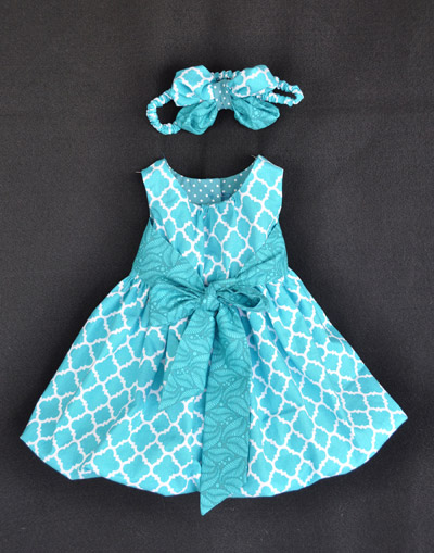 An Easter dress made by Cindy Falck for her new baby granddaughter.