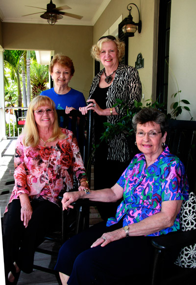 Standing, from left: Dorothy Sparks, Martha Collins. Seated: Cindy Falck and Delores Lines.