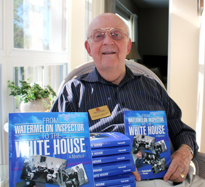 H. Spencer Faircloth's memoir documents his life from a small town in Georgia to his time serving in the White House. The next book signing is set for June 12 at the SouthShore Regional Library in Ruskin. Photos courtesy of Adam Porter.