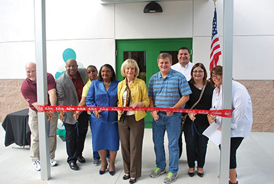 A ribbon cutting for the new gym was attended by county dignitaries and local citizens, including Hillsborough County Commissioners Sandy Murman and Stacy White. Chere Simmons photos.