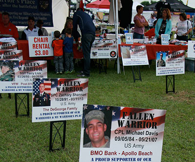 The Ride for the Fallen honored Fallen Heroes from the local community.