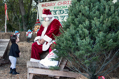 At Hydro Harvest Farms in Ruskin, to the delight of dozens of children and their parents, Santa made an early visit last weekend. If you missed him, no worries, he'll be back on Dec. 12 and 13. And, of course, during the night hours of Dec. 24.