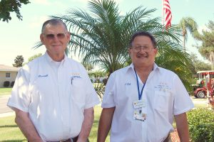 LOIS KINDLE PHOTO Darrell Katz, 77, and Jim Schwartz, 68, both veterans disabled from Agent Orange in the Vietnam War, serve as DAV Chapter 110 volunteers at the local DAV office in Sun City Center. The office serves any veteran or their spouse living in the South Shore area.