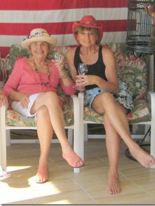 Her late friend, Marion Scheller, left, and Carole Scoble. Scheller was also a member of the SCC Art Club.