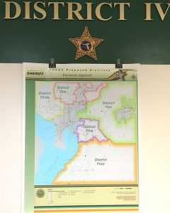 The Hillsborough County Sheriff's Office will add a fifth district, center left, to its Department of Patrol Services next spring, reshaping South Shore's Dist. IV to accommodate the area's widespread growth.