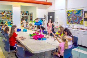A KidsArt Camp class in progress. ANDREA SHAY PHOTOS
