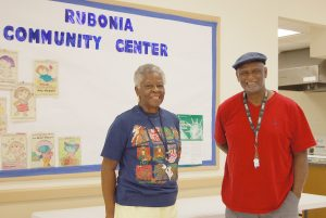 CARL MARIO NUDI PHOTOS Rubonia Community Association President Mary Brown, left, and Morris Goff, Rubonia Community Center program coordinator, said they hope the federal funds are approved to help pay for improvements in their community.