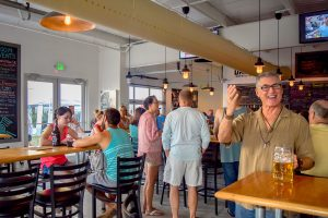 Darwin's Brewery creates a welcoming yet upbeat modern vibe.