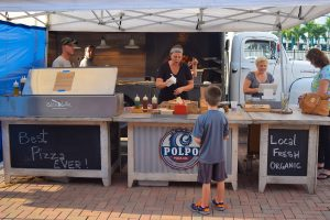 Polpo's Pizza serves a selection of piping hot, delicious pizza from its mobile kitchen.