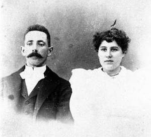 William J. and Caroline Fogarty met at a dance and were married shortly afterwards.