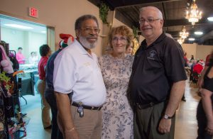 HCSO Riverview Community Service Officer Barbara Jones with Chaplain Rev. R. Davis of the Tampa Police Department and HCSO Chaplain John Garbreana at last year's dinner.