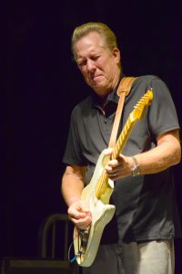 """""""Little"""" Charlie Baty plays an impassioned guitar solo with the Golden State/Lone Star Revue. ANDREA SHAY PHOTO"""