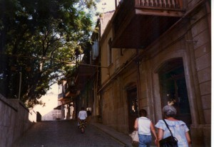 Old city street in Baku.