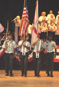 Color Guard from East Bay High School.  Frank Kepley Photo