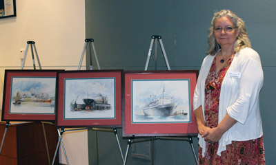 Anne Madden's friendship with Ronald van Rikxoort led to the artist donating 12 paintings and a self-portrait to the Tampa Bay Port Authority. Photos courtesy of Anne Madden