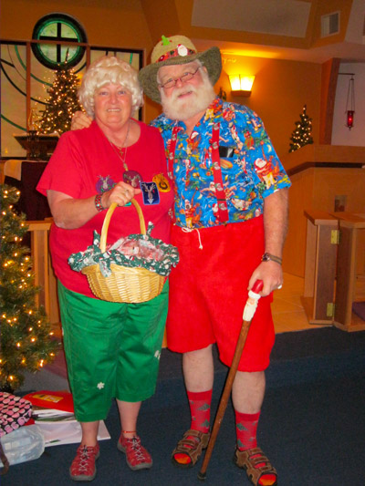 Mr. and Mrs. Claus, John and Linda O'Connor, are expected to make an appearance at the Christmas dinner handing out candy canes and small toys to children. Photo courtesy of Calvary Lutheran Church