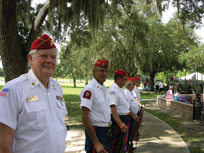 Riverview's 1226th detachment of the Marine Corps League saluted fallen soldiers with a rifle salute and the playing of taps. Kevin Brady photo