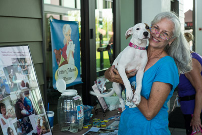 Robin Roberts of Critter Mama Rescue and Hazel. Mitch Traphagen photos