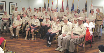 Thirty-seven veterans of World War II were invited by Honor Flight to attend a non-flight ceremonial visit to the World War II Memorial in Washington, D.C. Lia Martin photos.