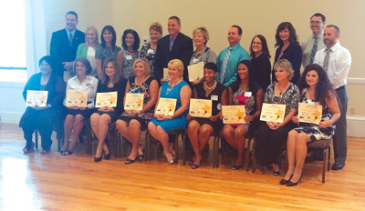 New principals were honored at the breakfast. Kevin Brady photo.
