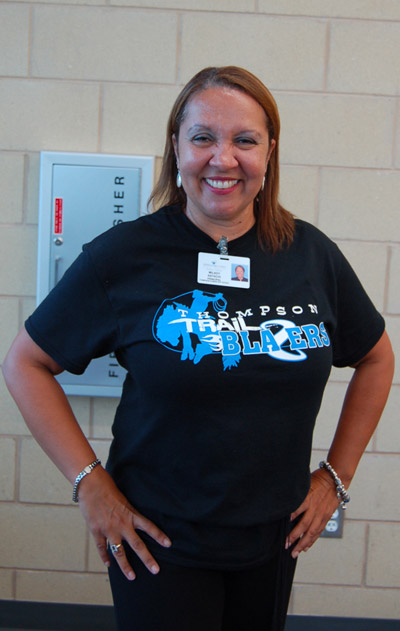 Principal Milady Astacio is thrilled to be at the helm of this innovative, energy-efficient school.
