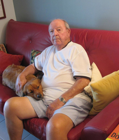 Bill Goodman and his dog Emma. Lia Martin photo.