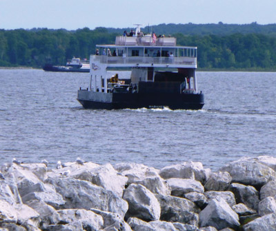 The Door County ferry to Washington Island. Jeanne O'Connor photo.