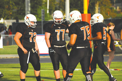 The next four weeks will be a real test for the Lennard Longhorns as they face Hillsborough, Robinson, Jefferson and Armwood.  Jacob Council photo.