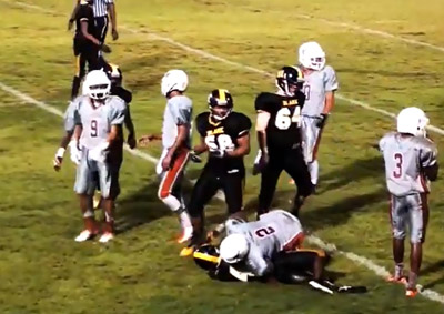 Lennard scored a safety and ran back a punt for a touchdown to defeat Blake 8-0. Big County Preps photo.